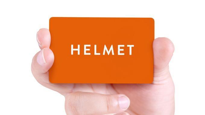 New Helmet Library Card  Helmet