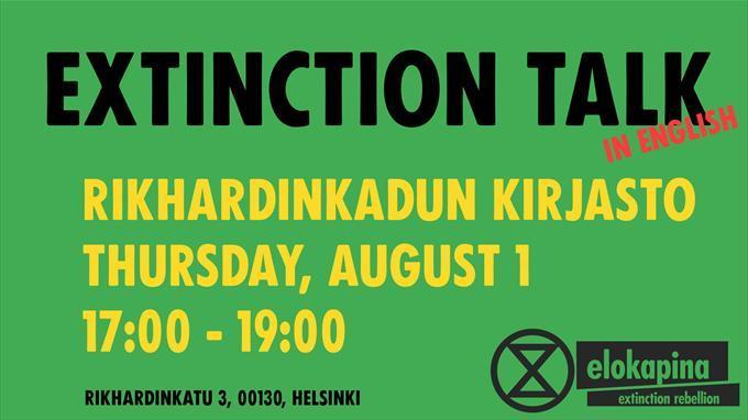 Linkki tapahtumaan Extinction Talk (in English)