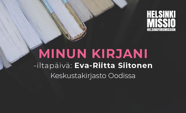 Linkki tapahtumaan Minun kirjani: Eva-Riitta Siitonen