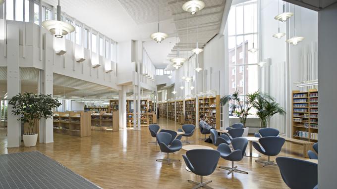 Vallilan kirjasto: arkkitehtuurin perustiedot | Helmet