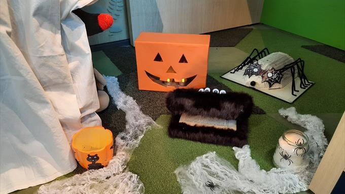 Linkki tapahtumaan Halloween-haamujahti kirjastolla